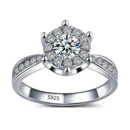 silver jewelry vintage midi wedding ring engagement elegant bague for women aaa zircon 1 ct simulate diamond bijoux msr093 - Vintage Wedding Rings For Sale