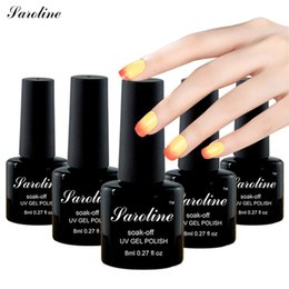 Laca De Gel Barato Baratos-Al por mayor-sarolina Cambio de temperatura Color Soak-off Nail Gel Polish 8ML LED UV Cambio de colores profesional barato Laca de Gel