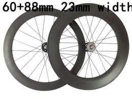 Bicycling Gear Australia - 23mm width 60mm and 88mm carbon track road wheelset 700C cycling bicycles wheels Toray T700 on sale