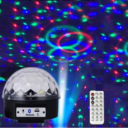 $enCountryForm.capitalKeyWord Canada - Bluetooth MP3 Stage Lights Ball RGB Crystal Magic Ball Stage Light Projector Effect LED Light