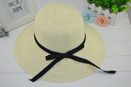 $enCountryForm.capitalKeyWord Canada - New Fashion Sun Hat Women's Summer Foldable Straw Hats For Women Beach Headwear 2 Colors Top Quality Wholesale