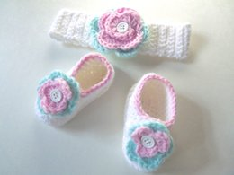 $enCountryForm.capitalKeyWord NZ - HandmadeHandmade Crochet Penguin Crochet pink green and white baby girl headband and shoes handmade set first walker shoes