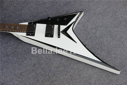 $enCountryForm.capitalKeyWord NZ - Custom guitar shop,Jack Mike flying V electric guitar,white color black tuners,mahogany wood body,rosewood fingerboard 6 string guitars
