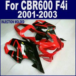F4i Fairings Australia - ABS injection bodywork for HONDA CBR 600 F4i fairings 01 02 03 CBR600 F4i 2001 2002 2003 red fairing kits OXSA
