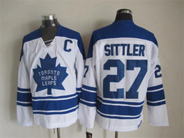 7add43c2b Top Quality 1967 Men Toronto Maple Leafs Ice Hockey Jerseys 27 DARRYL  SITTLER Retro Vintage CCM Authentic Stitched Jerseys Mix Order !
