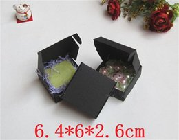 $enCountryForm.capitalKeyWord Canada - 200pcs Retail Black Paper Box Candy Craft Gift Cosmetic Soap Packaging Cardboard Boxes Free Shipping 6.3*6.3*2.6cm