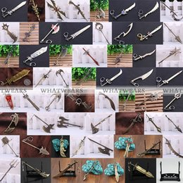 Lol Keychain Weapons Canada - 1 PCS League of Legends LOL Weapons of 15 types Champions Model Keychain Pendant Ring [1]