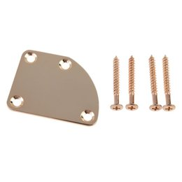 Chinese  Hot Sale Electric Bass Guitar Neck Joint Plates Guitar Mounting Back Plate NVIE order<$18no track manufacturers