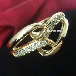 Wholesale gp size online – design Size and K Gold GP Ring Sapphire Engagement Jewelry r229