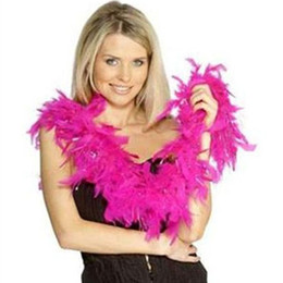 Feather Boa White UK - Chandelle Feather Boas Ladies Feather Boa 20's Flapper Fancy Dress White Feather Boa 20s 30 Flapper Burlesque Hen Night Party Decoration