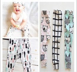 Cotton Kids Tent Canada - 4pcs 2016 girls clothing trousers Leggings 6 Design kids INS pants baby Tights clothes kids boys toddlers fashion animal fox tent pants 46