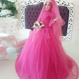wedding dress dubai abaya 2019 - Turkish Islamic Style 2016 Muslim Wedding Dresses Couture With Long Sleeves Abaya Dubai Formal Women Dresses With Beaded