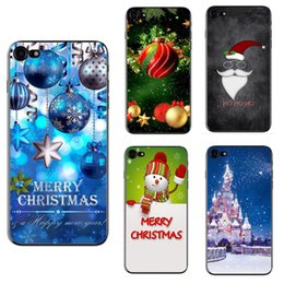 Discount iphone santa - Christmas phone case for Iphone X Iphone 8 7 6 6s plus 5s S7 S8 note5 J3 P10 soft TPU Santa cover painting defender case