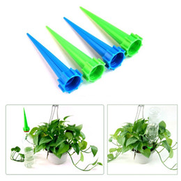 Flower Sprinklers Canada - 20Pcs Plant Flower Cone Watering Spike Garden Waterers Bottle Irrigation System