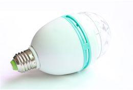 Magic Ball Rgb 3w Canada - LED bulb 3WRGB super bright LED bulb KTV disco lighting energy saving LED colorful magic ball lamp