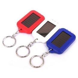 Discount power rings - Solar Key Chain Portable Keychain Light 3 LED Flashlight Solar Powered Torch Solar Power Keychain Ring LED Flashlight Li