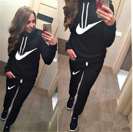 Slim Sport Femme NZ - Hot Sale! New Women active set tracksuits Hoodies Sweatshirt +Pant Running Sport Track suits 2 Pieces jogging sets survetement femme clothes