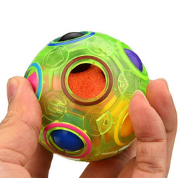 educational football games 2019 - Glow Rainbow Ball Magic Cube Toy Speed Football Creative Spherical Puzzles Kids Educational Learning Toys Games for Chil
