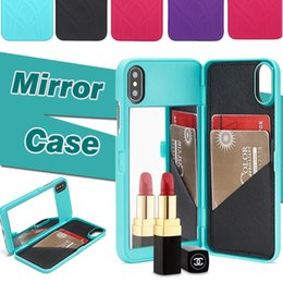 $enCountryForm.capitalKeyWord Canada - Wallet Case Lady Girl Makeup Mirror Shockproof Hybrid Hard With Card Slot Holder Slim Leather Cover For iPhone XS Max XR X 8 7 6 6S Plus