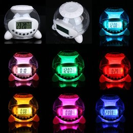 Ball Alarm Canada - Revitalizing 7 Color Changing LED Ball Calendar Alarm Clock Music Thermometer Natural Sound Desktop Table Clocks Despertador, dandys