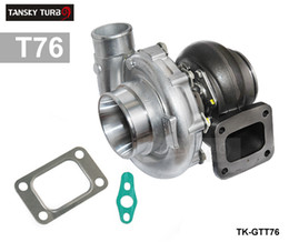 TANSKY - High Performance turbocharger T76 compressor A R .80 turbine housing A R.81 Oil 1000hp T4 V-Band Clamp water cooling TK-GTT76 on Sale