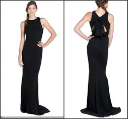 Robe À Bille En Mousseline De Soie Pas Cher Pas Cher-Robes de soirée 2015 Cheap Black Simple A-Line mousseline sans manches pour femme Formal Celebrity Dress Prom Party Ball Ball Custom Made