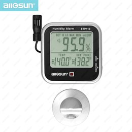 Sun monitorS online shopping - Digital Indoor Thermo Hygrometer Humidity and Temperature Monitor Alarm large LCD display Dew Point Tester All Sun ETP110