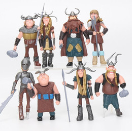 Boy Figurines Canada - 8pcs set 10-13cm How to Train Your Dragon 2 Figurines PVC Action Figures Classic Toys Kids Gift For Boys Girls Children