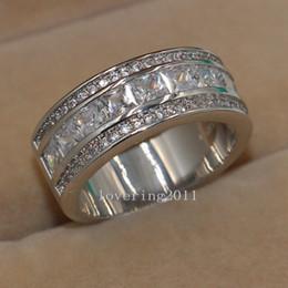 2017 Eternal Wedding Bands Free Shipping Jewelry Eternal White Topaz Diamonique Simulated Diamond 10kt White Gold