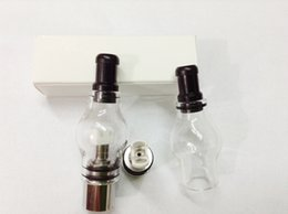 Discount atomizer core cotton wicks Wax vaporizer Dual Cotton Wick coil Glass Globe vaporizer atomizer changeable replacement double Cotton Core Glass Globe