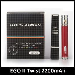 Spinner ii mini online shopping - Original EGO II Twist Battery mah variable voltage spinner battery v v vs carbon spinner III fit aspire nautilus mini atlantis