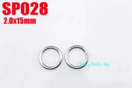 Ring Steel Diy NZ - Wholesale - 2x15mm 316L stainless steel jump rings 200pcs lot DIY necklace accessories chains parts SP028 stainless steel jump ring