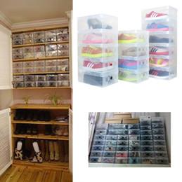 $enCountryForm.capitalKeyWord Canada - High Quality 10pcs lot Foldable Plastic Shoe Storage Case Boxes Stackable Organizer Shoe Holder Easy DIY