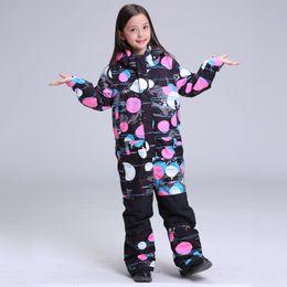 $enCountryForm.capitalKeyWord Canada - Wholesale- 2018 GSOU SNOW Kids Ski Suit Girls Children Windproof Waterproof Snowboard Jacket Pant Outdoor Sport Wear Super Warm Suit Set