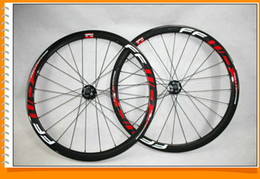 16 Rear Wheel Canada - Disc Brake Ffwd 38mm Clincher Carbon Wheelset Glossy Road Wheels 700c Full Carbon Bicycle Wheels Red