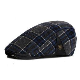 $enCountryForm.capitalKeyWord NZ - New Fashion Sports Berets Caps For Men Women Casual Unisex Caps Plaid Cotton Berets Hats Boina Casquette Flat Cap