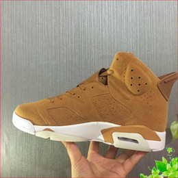 cheap priced boots Canada - 6 Wheat golden harvest 384664-705 men basketball shoes mens sports Ourdoor designer running sneakers cheap price man shoe with box