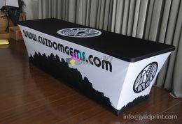 Tampas de tabela impressas personalizadas do spandex, toalha de mesa da mostra de comércio, roupa da tabela de 6ft (com impressão seu logotipo) em Promoção