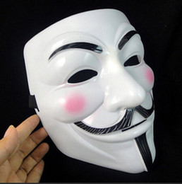 guy fawkes cosplay mask Canada - New Halloween mask costume party Cosplay Halloween Party Guy Fawkes V FOR Vendetta Anonymous Adult party Mask decorations