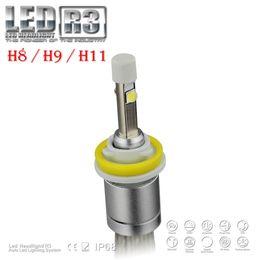 Xenon Beams Headlights Canada - 1 Set Hot R3 H11 80W 9600lm CREE LED Headlight XHP-50 CHIPS Auto Truck 12 24V Xenon White 6K Driving Fog Lamp Bulb Low Beam 40W 4800LM Halog