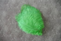 green ostrich feather centerpieces Australia - 100 pcs 5-8inch lime green ostrich feather for wedding centerpiece decor party table centerpieces event decor supply