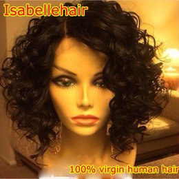 Top Quality Virgin Human Hair Canada - Grade 8A Top Quality Water Wave Lace Front Wig 100% Unprocessed Virgin Human Hair Full Lace Brazillian Wigs Black Women With Baby Hair