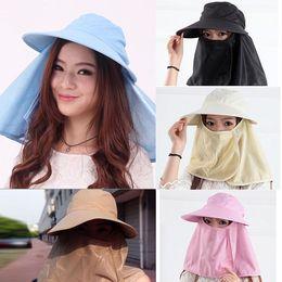 Wholesale-S640 New 2015 Women Sun Hats Fashion Cover Face Hats For Women  Ladies Casual Hat Girls Sun Summer Hat 5 Colors 6a2a209c43d