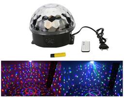 Free magic ball online shopping - Mini RGB LED MP3 DJ Club Pub Disco Party Music Crystal Magic Ball Stage Effect Light With USB Disk Remote Control
