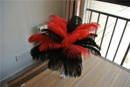 $enCountryForm.capitalKeyWord NZ - FREE SHIPPING 100pcs lot 16-18inch black and red Ostrich Feather plume for wedding centerpiece decor event party festive supply decor