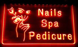 salon neon signs Canada - LS024-r Nails Spa Pedicure Beauty Salon Neon Light Sign