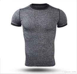 Quick Dry Shirts For Men Canada - New Men Polyester T-shirt Summer Casual Quick Dry T-shirt Hot Male Tight Tees for Fitness XZ-011
