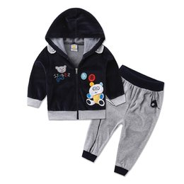 TwinseT sporT online shopping - 2018 New arrival velvet long sleeve two pieces children clothing set casual outfits baby spring sports clothes girls twinset