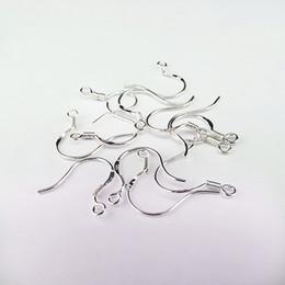 925 Gümüş Lehçe Küpe Bulma Fransız Kulak Tel Kanca STERLING GÜMÜŞ Fransız HOOKS 925 EarWires Kulak