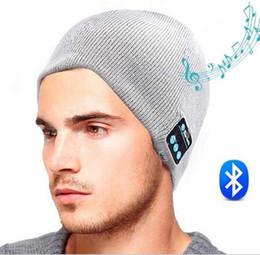 NOUVEAU Doux Chaud Bonnets Bluetooth Musique Chapeau Cap avec Stéréo Casque Casque Haut-Parleur Sans Fil Mic Mains Libres pour Hommes Femmes Cadeau M65